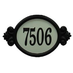 Designer's Choice Classic Reflective DIY Address Plaque