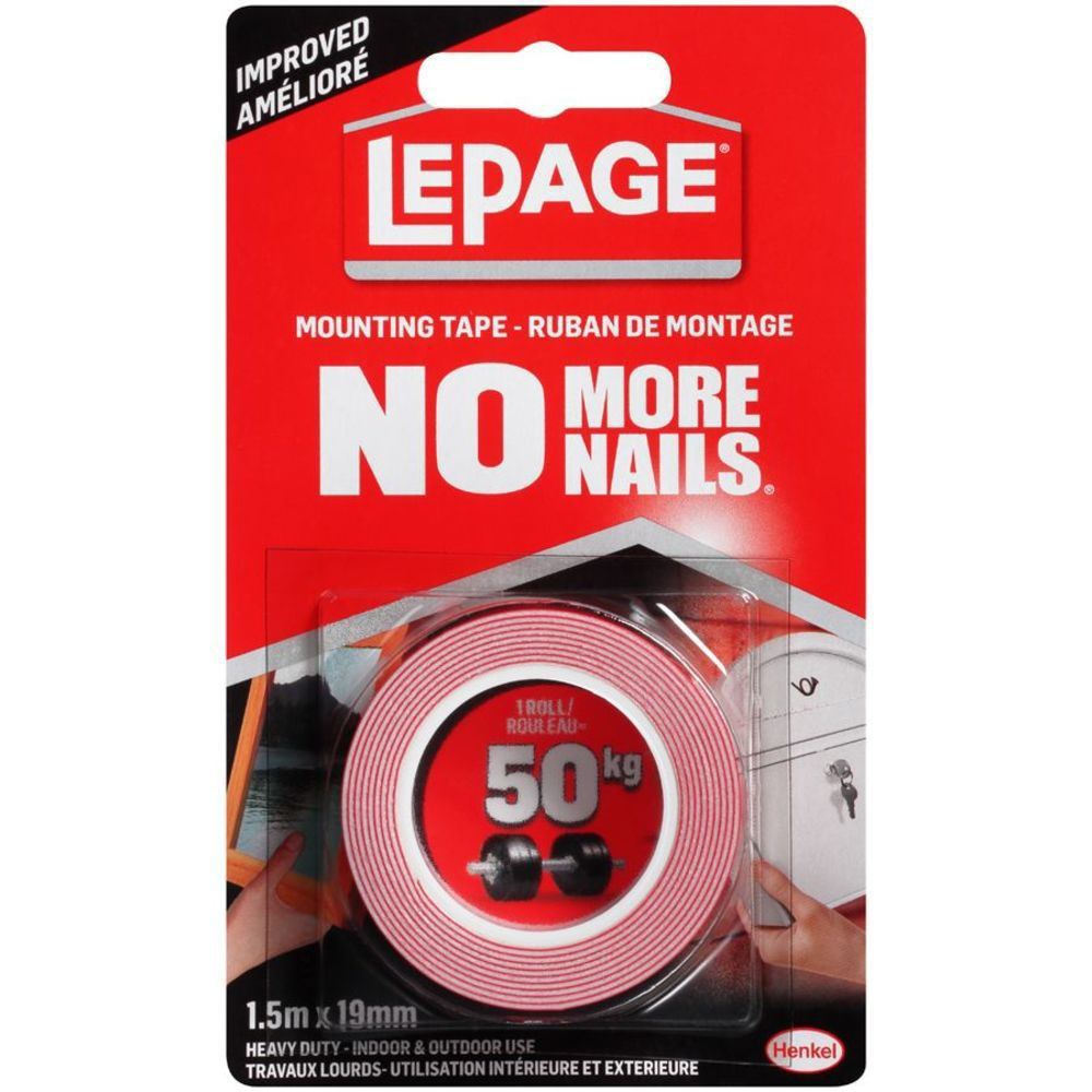 LePage No More Nails Heavy Duty Mounting Tape