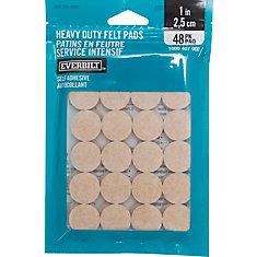 1-inch Heavy Duty Self-Adhesive Felt Pads (48 per Pack)