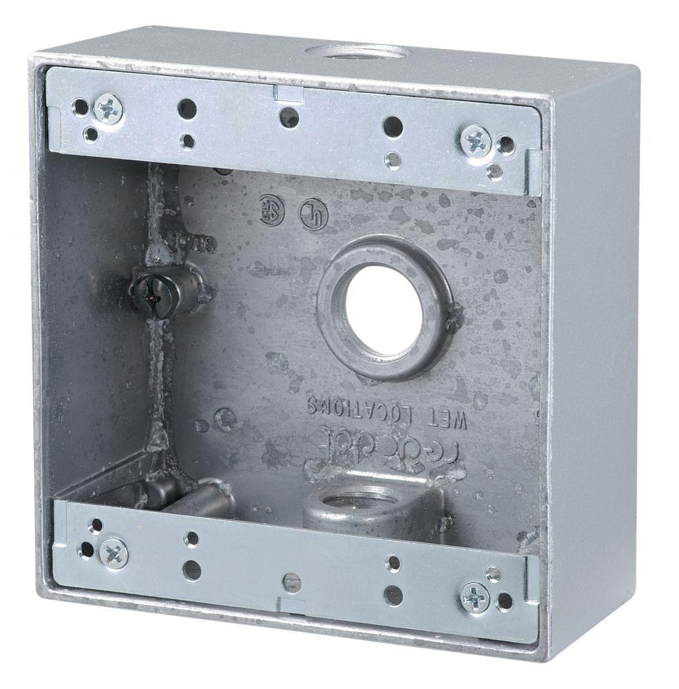 Outdoor weatherproof fse double gang pvc device box in