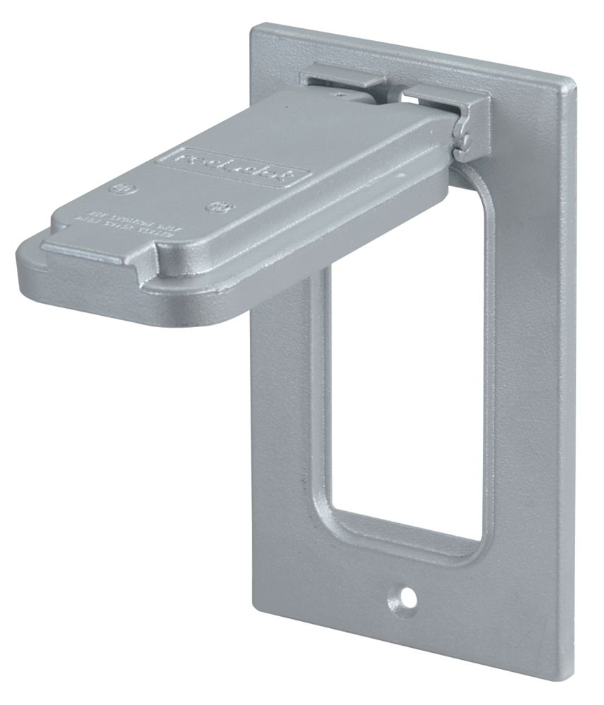 GFCI Receptacle Cover Vertical, Silver