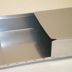 Don Park Duct 8 In. x 18 In. x 60 In., 28 Galvanized