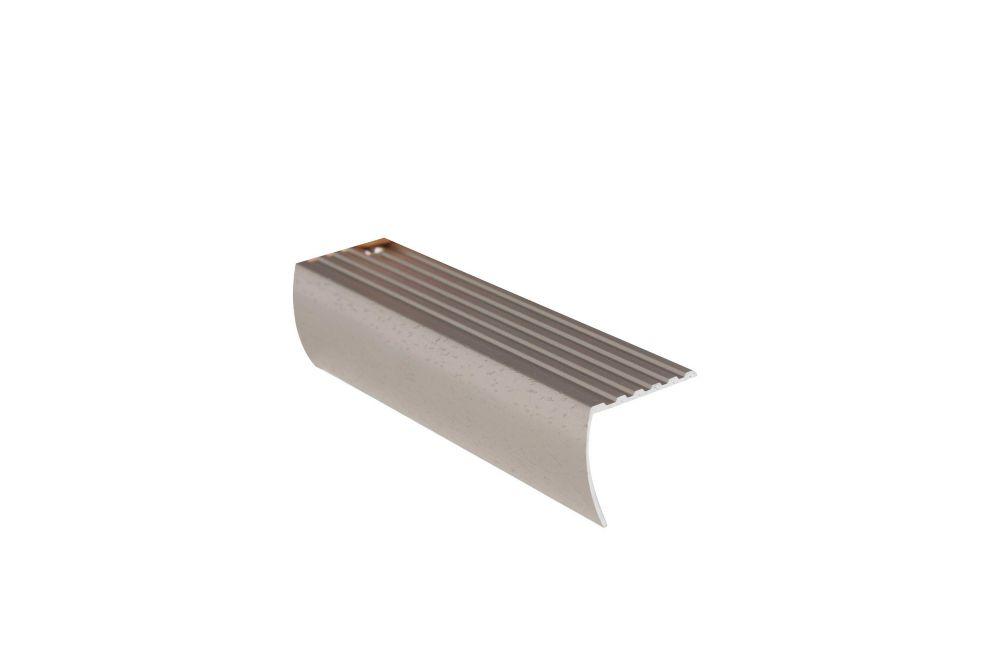 1-5/8in X 12ft Stair Nosing Floor Moulding - Hammered Titanium