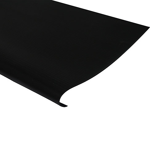 Vinyl Stair Treads With Nosing, Black - 24 Inch