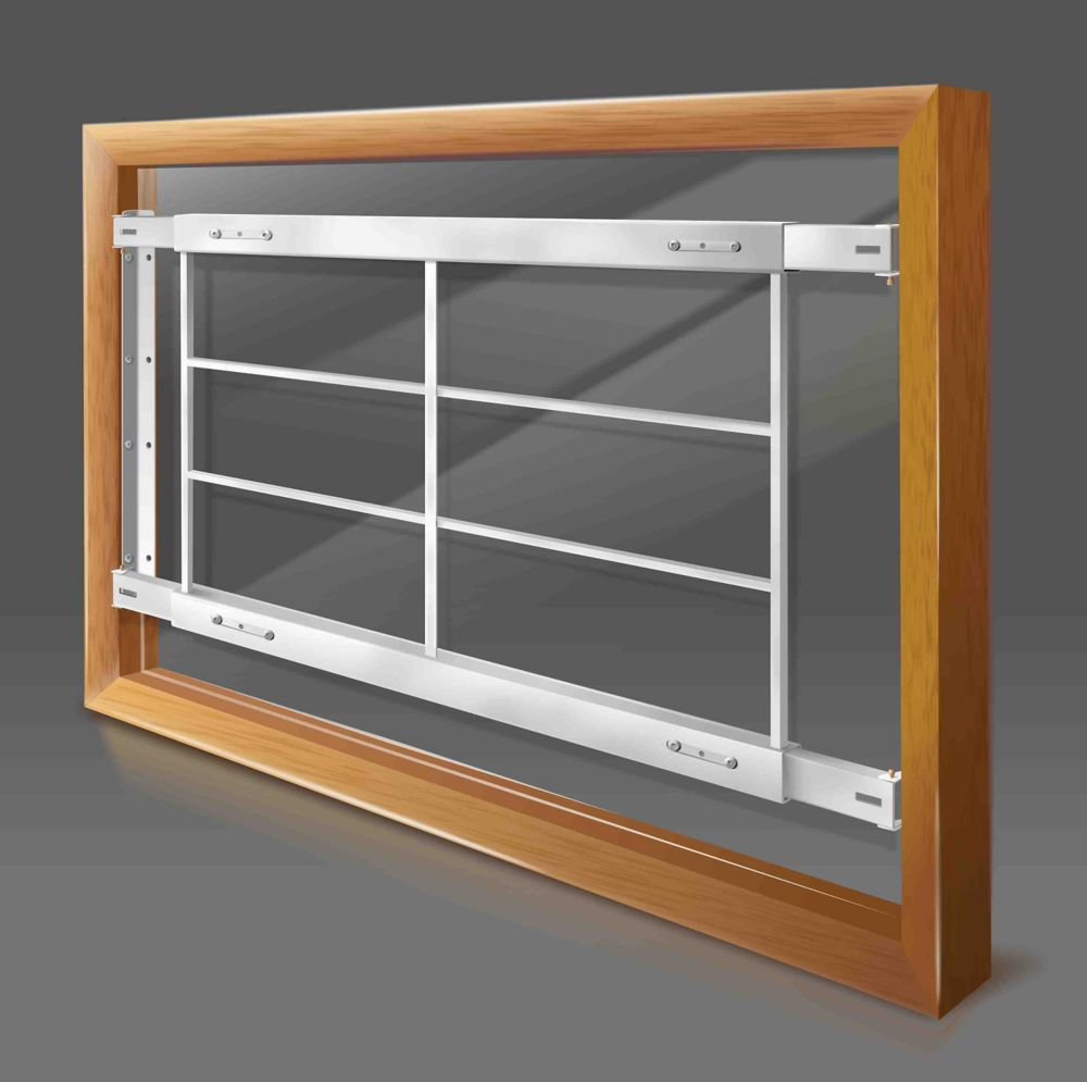 201 D 62-inch to 74-inch W Fixed Window Bar