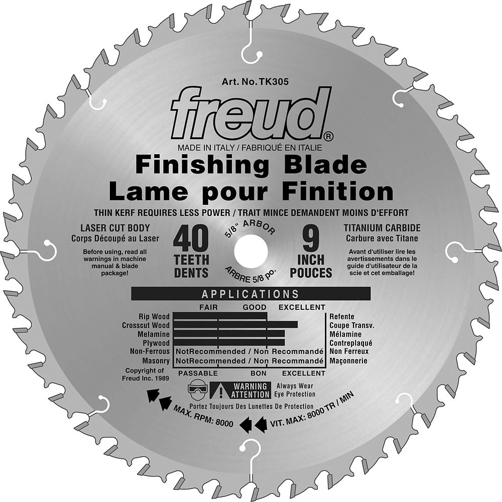 9 Inch Finishing Blade