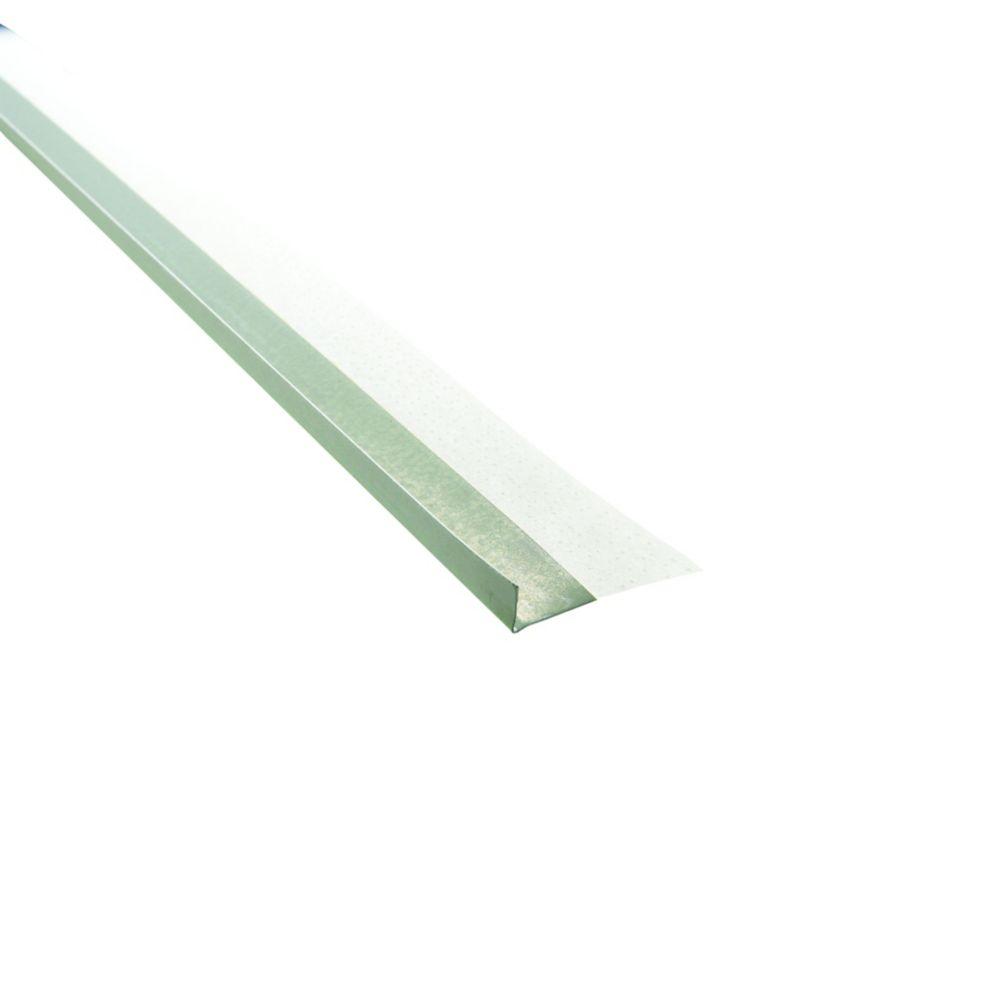 Renfort d'angle métallique à face de papier B4 1/2po en L, 10pi