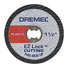 1 1/2-inch EZ Lock Rotary Tool Cut-Off Wheels for Plastic (5-Pack)