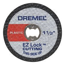 1 1/2-inch EZ Lock� Rotary Tool Cut-Off Wheels for Plastic (5 Pack)