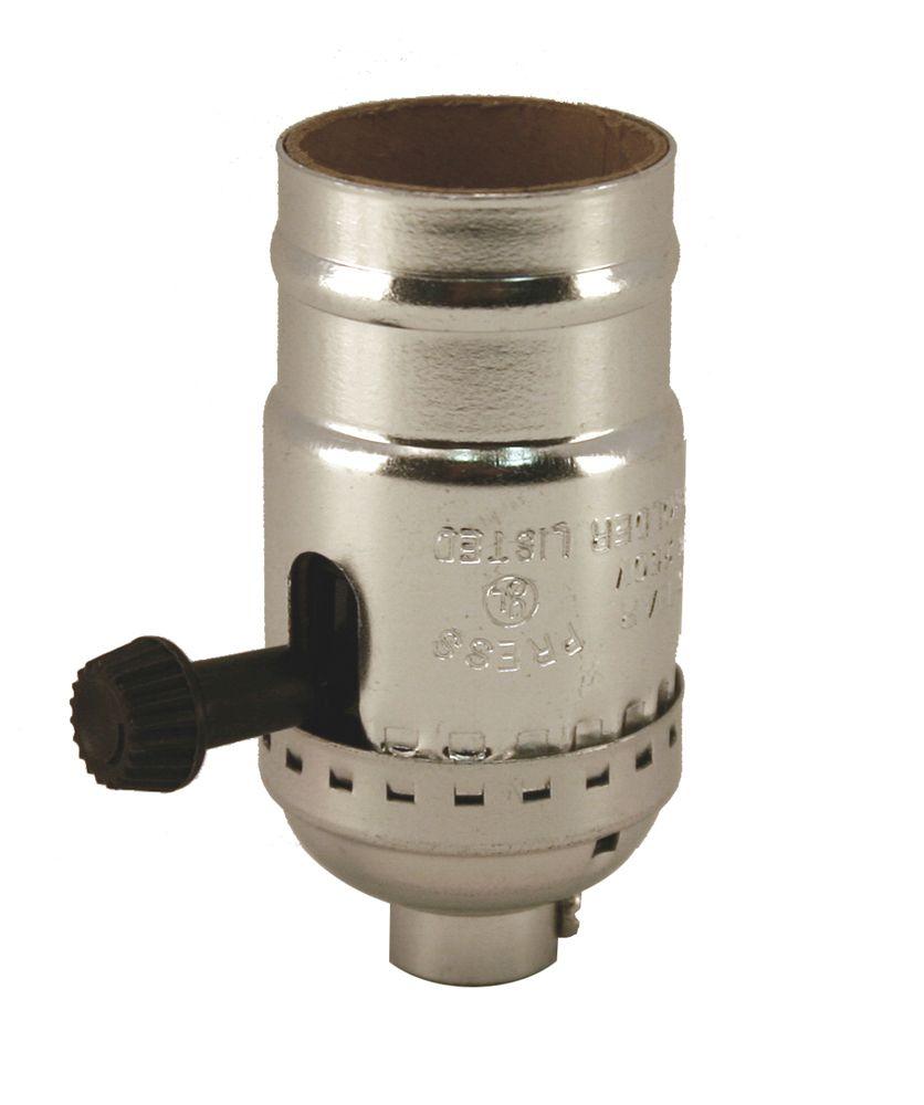 Interrupteur à bouton rotatif de chrome