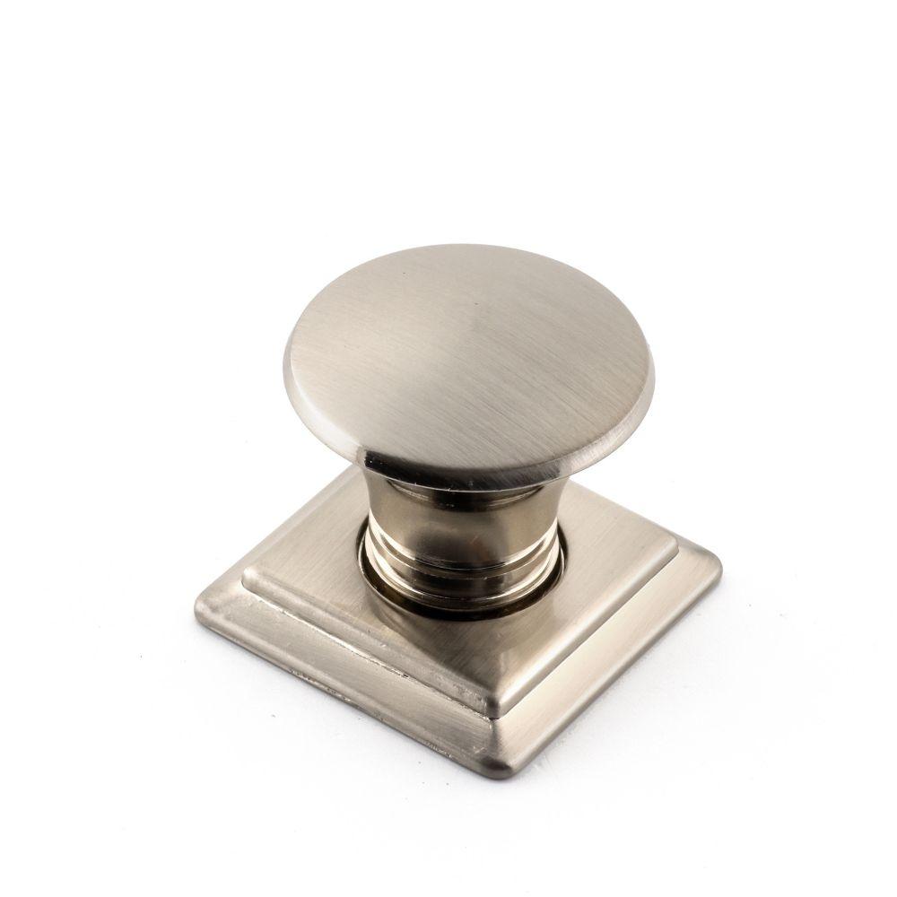 Bouton contemporain en métal - Dia. 32 mm