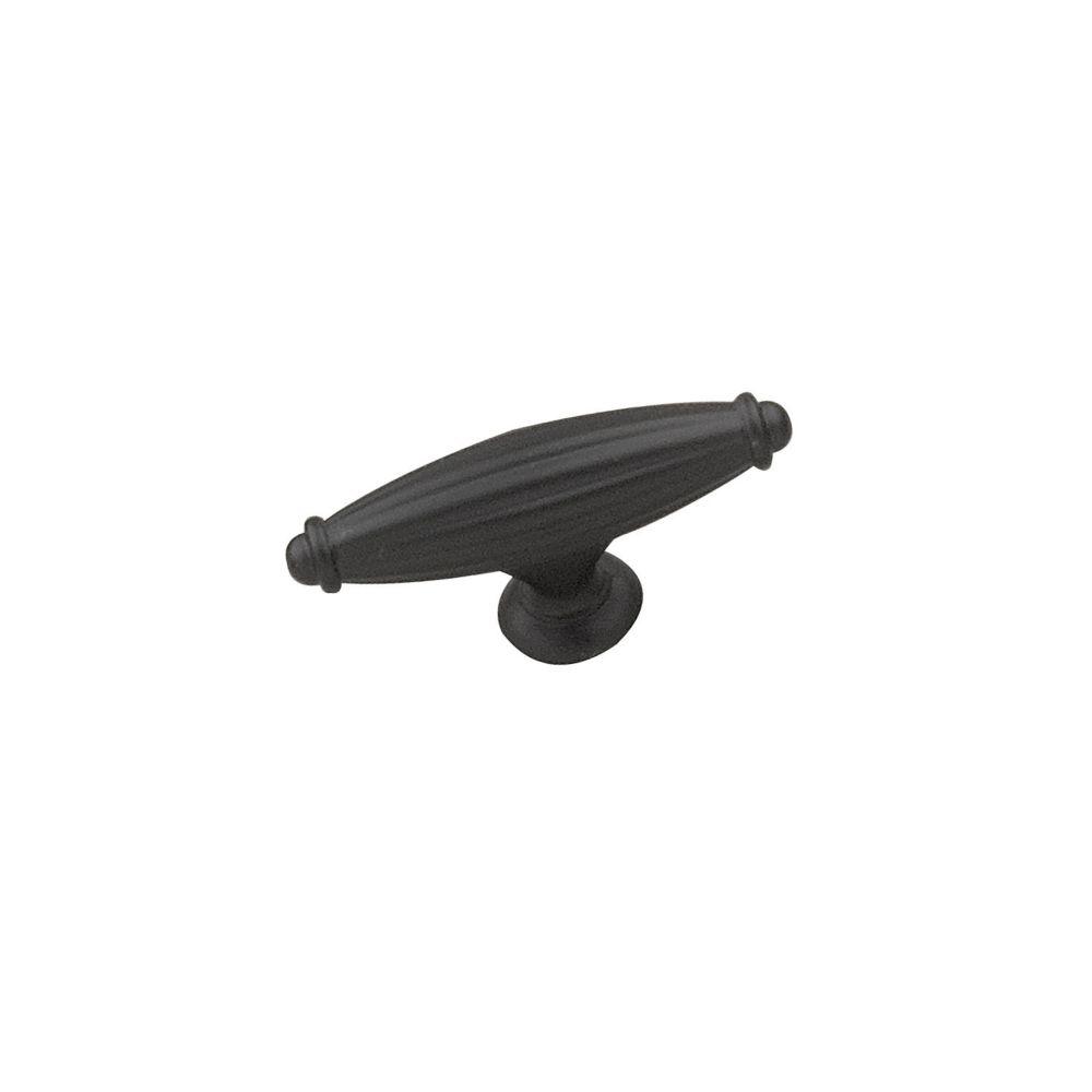 Transitional Metal Knob - Matte Black - 65 mm Dia.