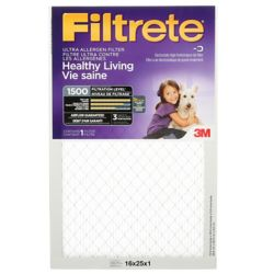 Filtrete Filters 16-inch x 25-inch x 1-inch Healthy Living MPR 1500 Ultra Allergen Filtrete Furnace Filter
