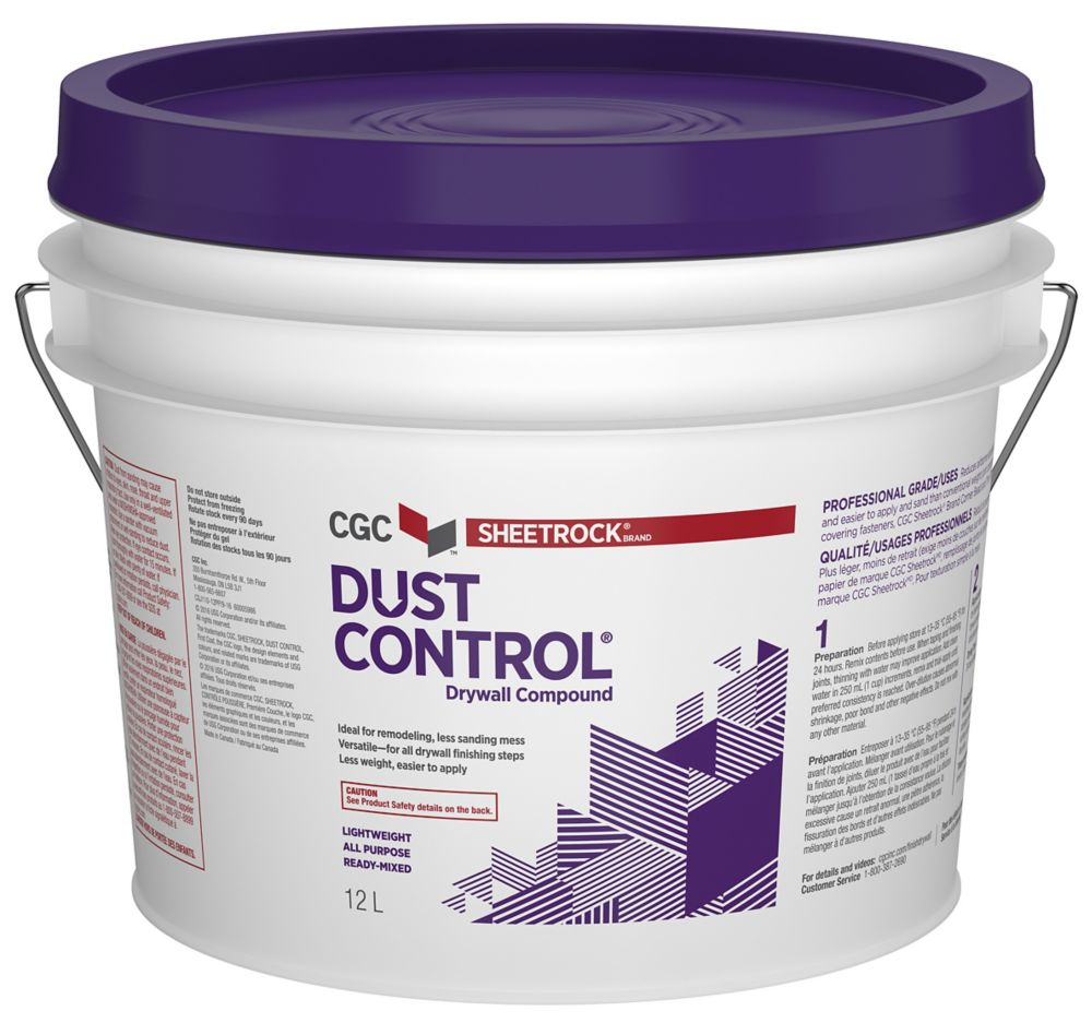 DUST CONTROL Drywall Compound, Ready Mixed, 16 kg Pail