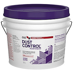 Sheetrock Dust Control Drywall Compound, Ready-Mixed, 12 L Pail