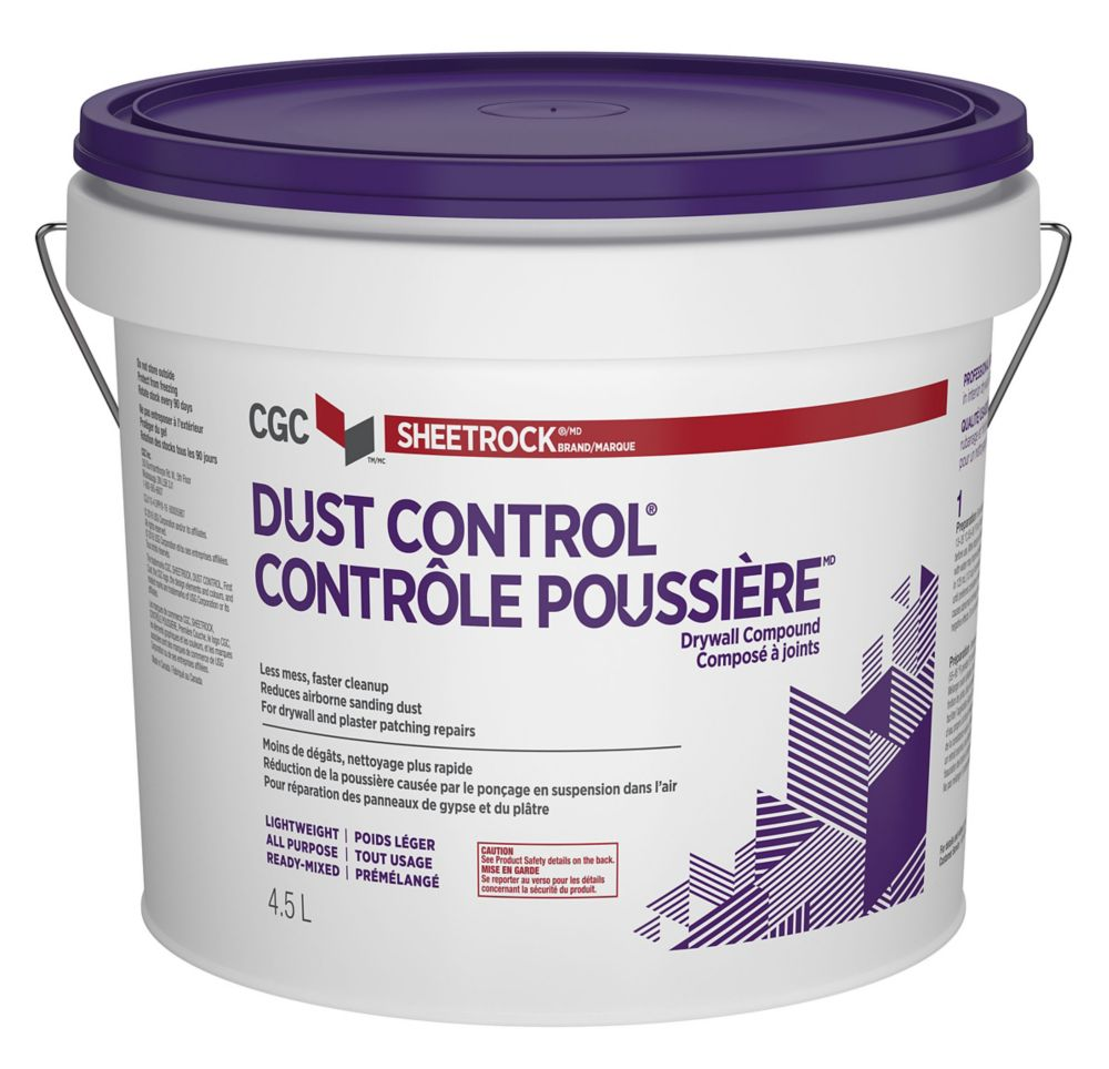 DUST CONTROL Drywall Compound, Ready Mixed, 5.5 kg Pail