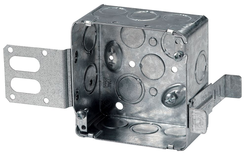 4 In. Square Box 2-1/8 In. Deep Steel Stud
