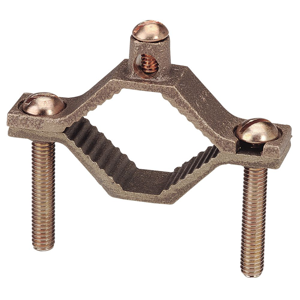 Iberville 1-1/4 In. - 2 In. Ground Clamp Brass - Bag of 1