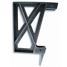 Plastic Deck Bench Bracket in Black