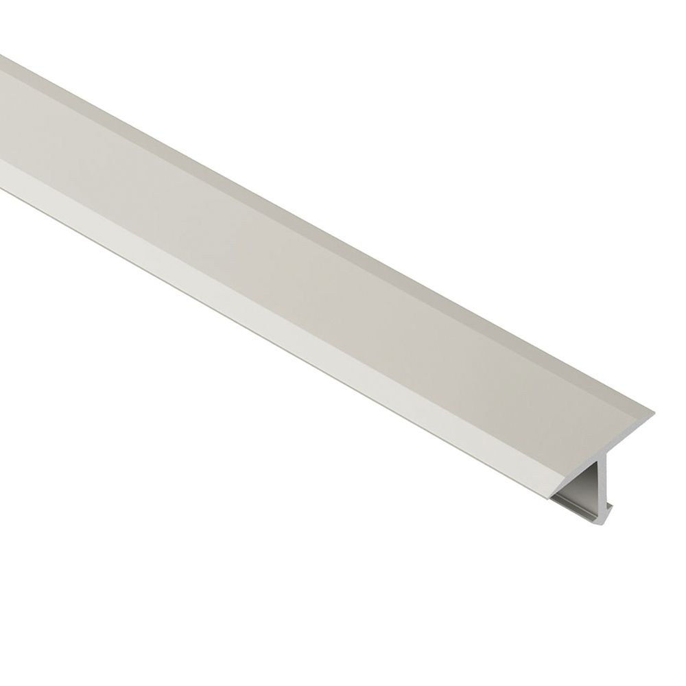 Reno-T Satin Nickel Anodized Aluminum 17/32 in. x 8 ft. 2-1/2 in. Metal T-Shaped Tile Edging Trim