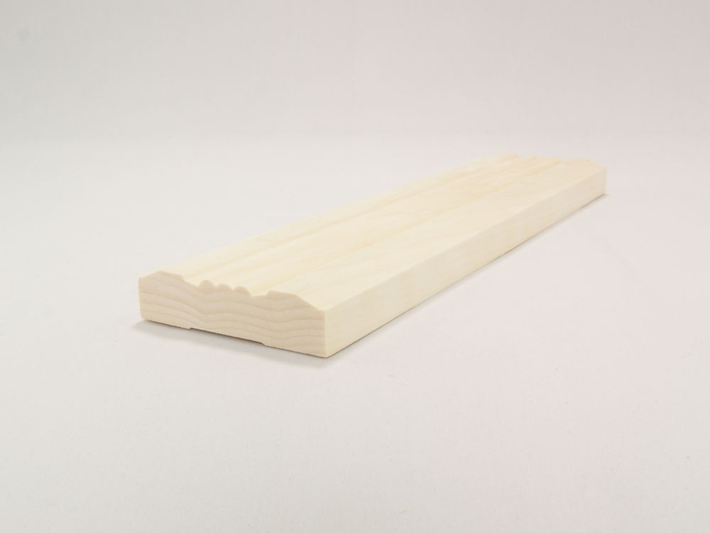 3/4-inch x 3-inch x 7 ft. Whitewood Victorian Casing Moulding