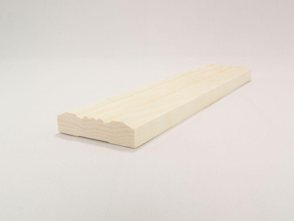 Dormant victorien en bois blanc - 3/4 x 3