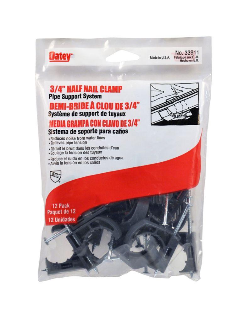 3/4 ftPipe Clamp Half Nail-12Pk