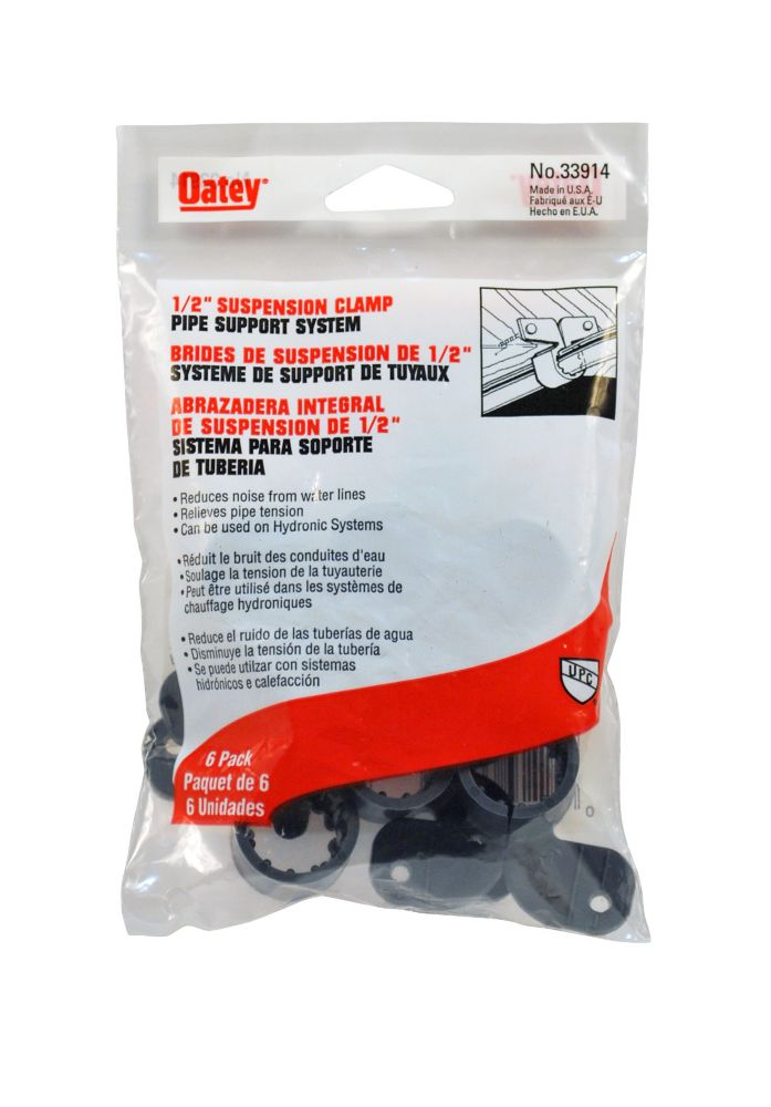 1/2 inch Suspension Clamp 6 Pack