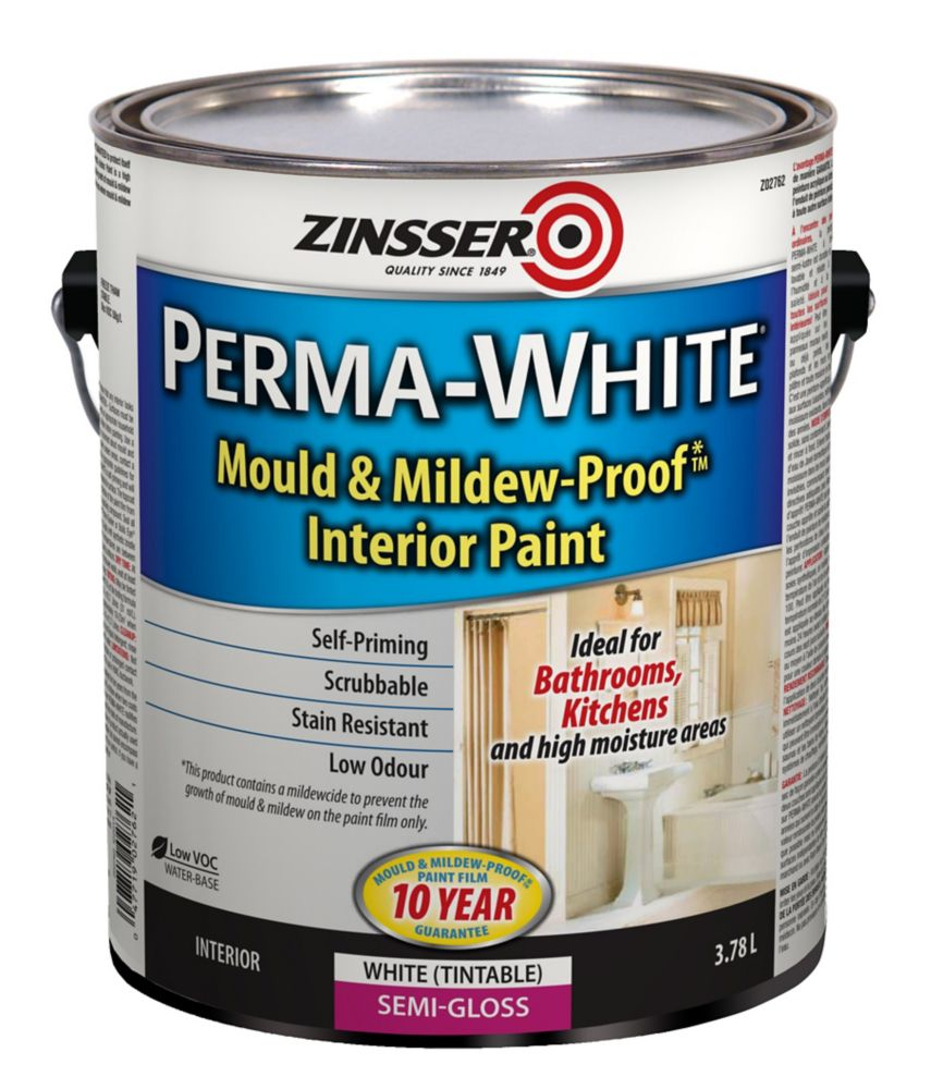 zinsser perma white semi gloss the home depot canada. Black Bedroom Furniture Sets. Home Design Ideas