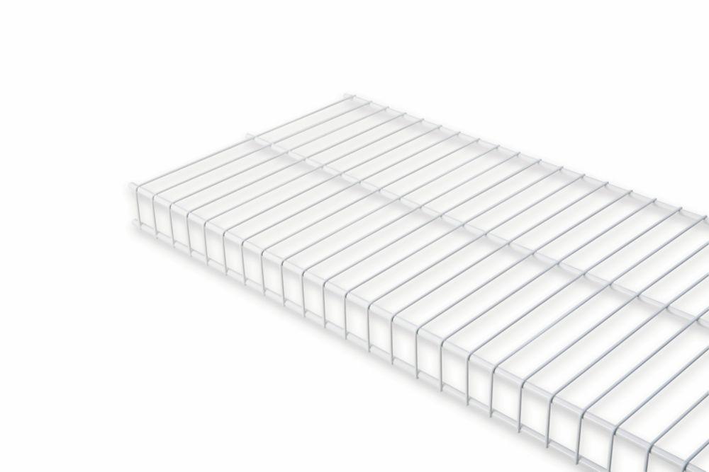 12 Inch X 8ft White Linen Shelf