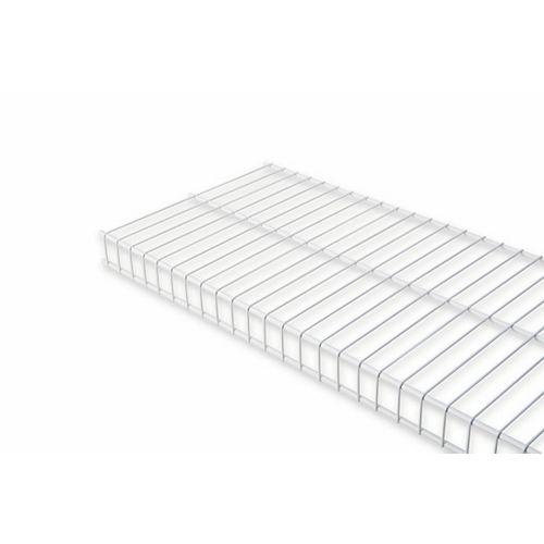 Rubbermaid Linen 12-inch x 8 ft. Wire Shelf in White