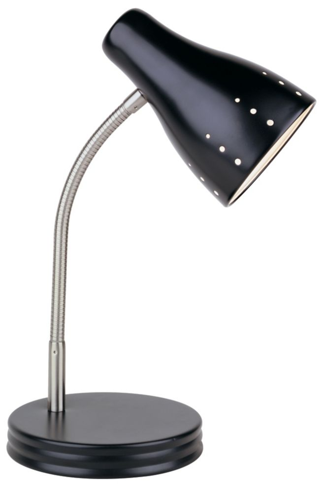 Hampton Bay 1 Light Touch Desk Lamp Black Finish