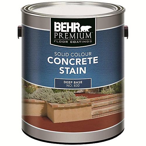 PREMIUM FLOOR COATINGS Solid Colour Concrete Stain - Deep Base, 3.43 L
