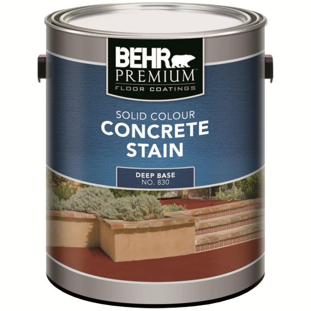 BEHR PREMIUM FLOOR COATINGS Solid Colour Concrete Stain - Deep Base, 3.43 L