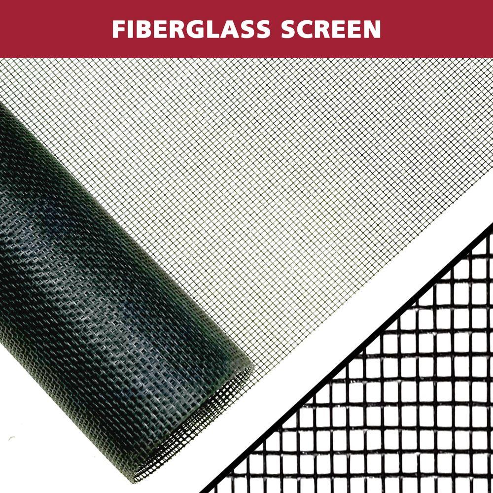 Everbilt 36-inch X 40-inch Black fibreglass Screen
