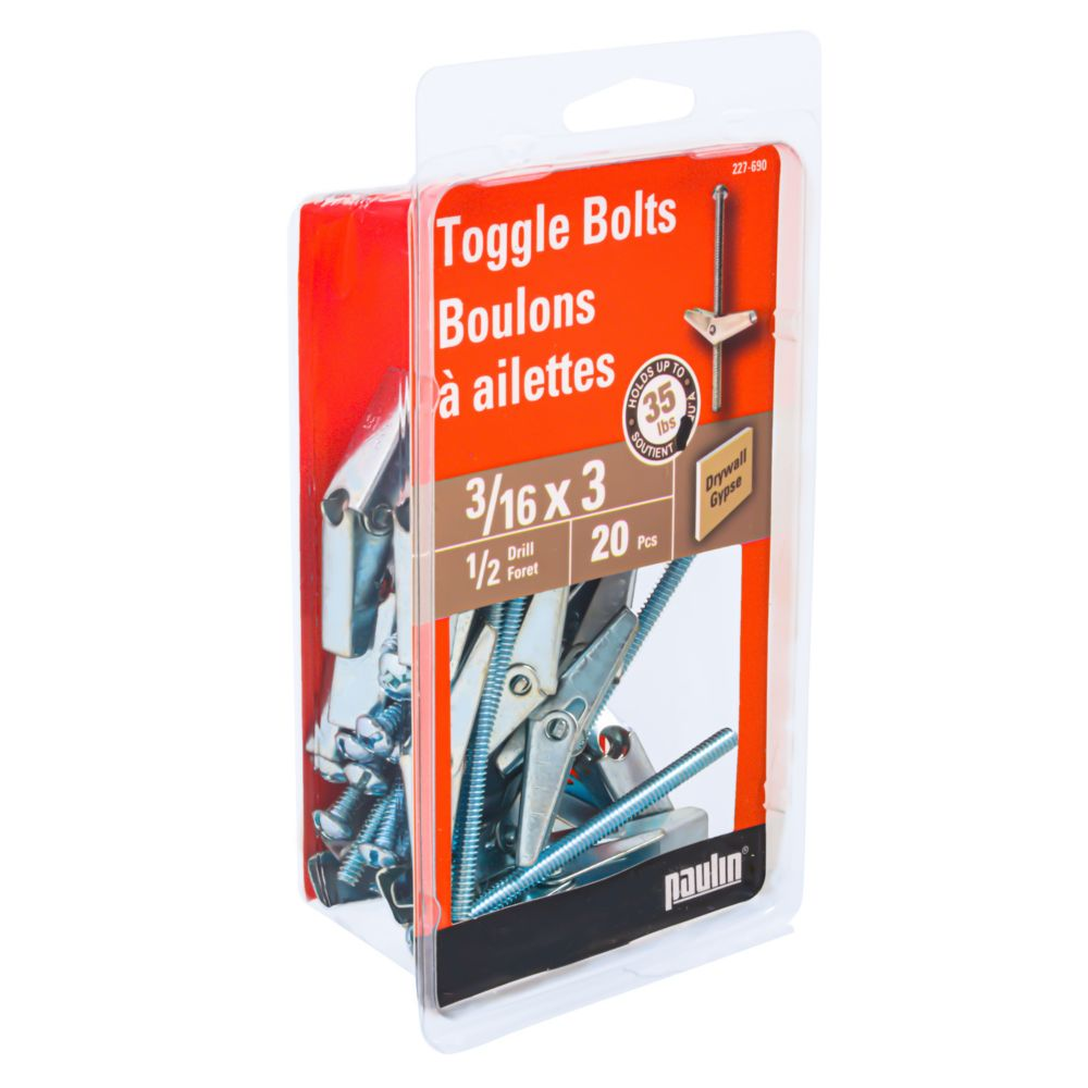 3/16X3 Toggle Bolts
