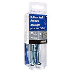 Paulin 3/16l Hollow Wall Anchors