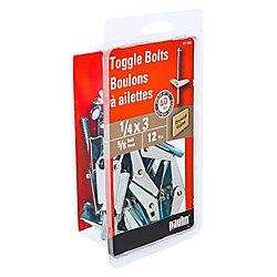 Paulin 1/4-inch x 3-inch Toggle Bolt-Drill Size 3/4-inch - Zinc Plated