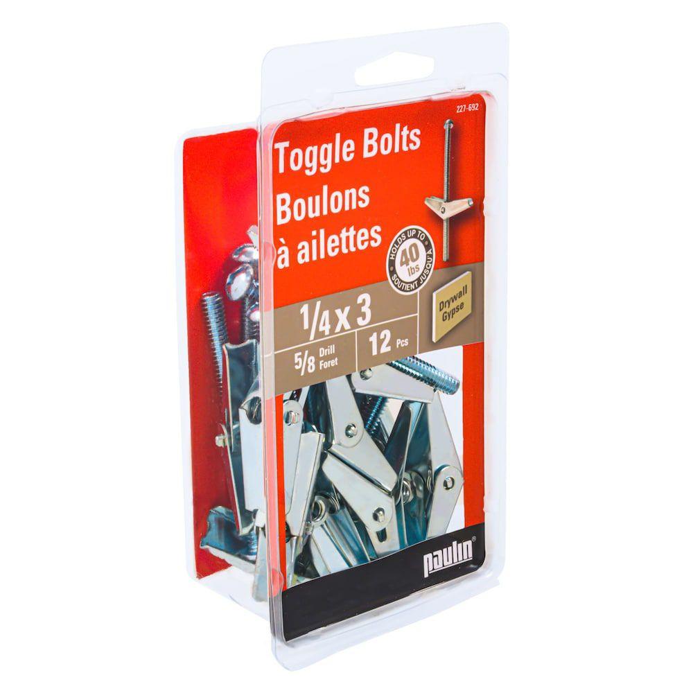 1/4X3 Toggle Bolts 12Pcs