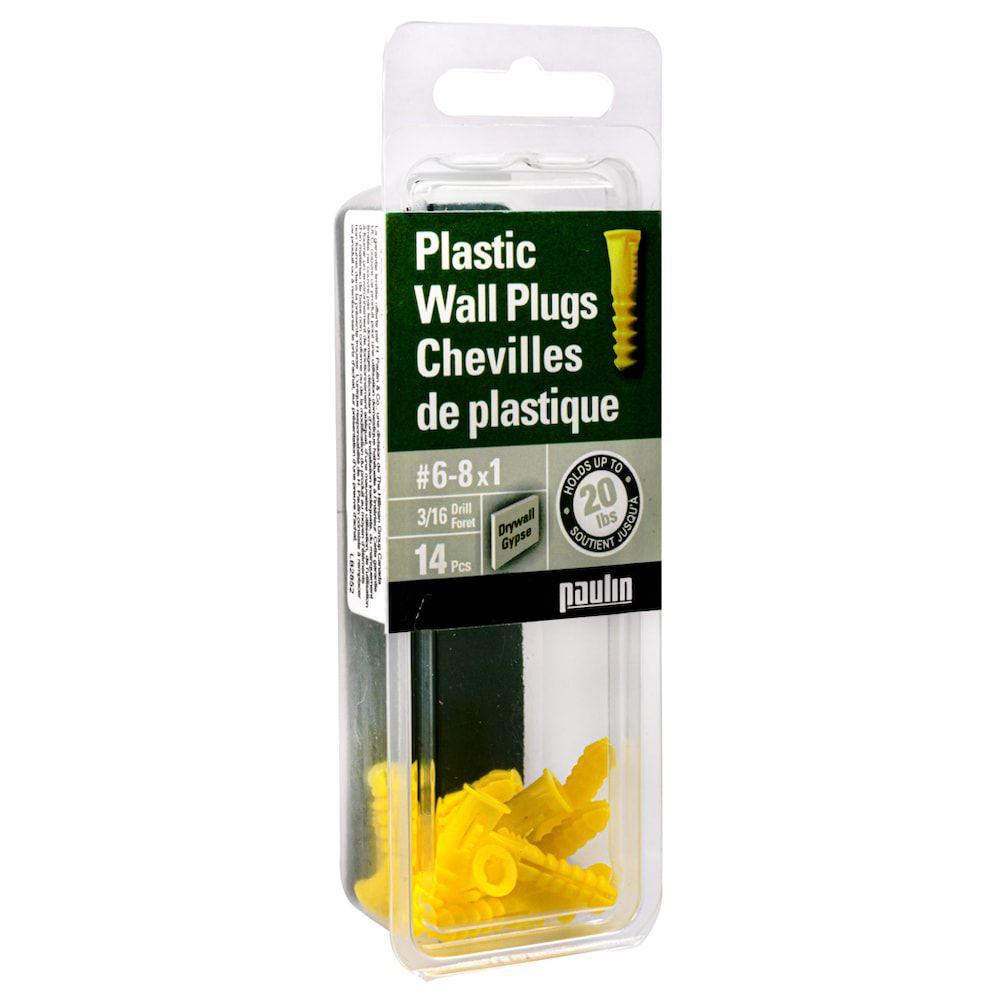 Chevilles de plastique 6-8X3/4  14 mcx