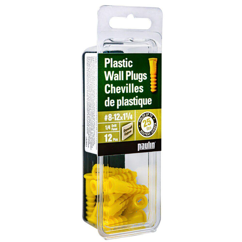 8-12X1 Plastic Anchor 12 pcs