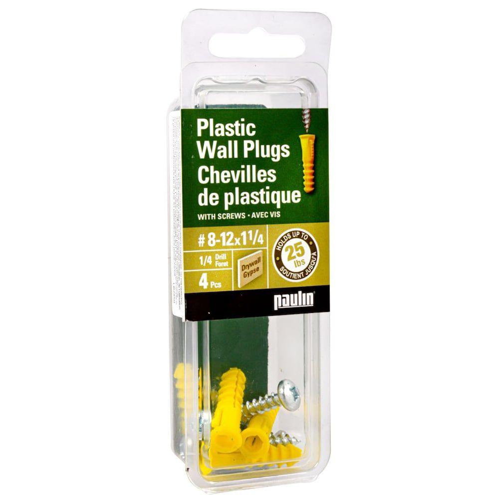 Chevilles de plastique 8-12Xl avec vis