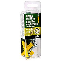 Paulin 12-14X1-1/2 Plastic  Anchor with Screws