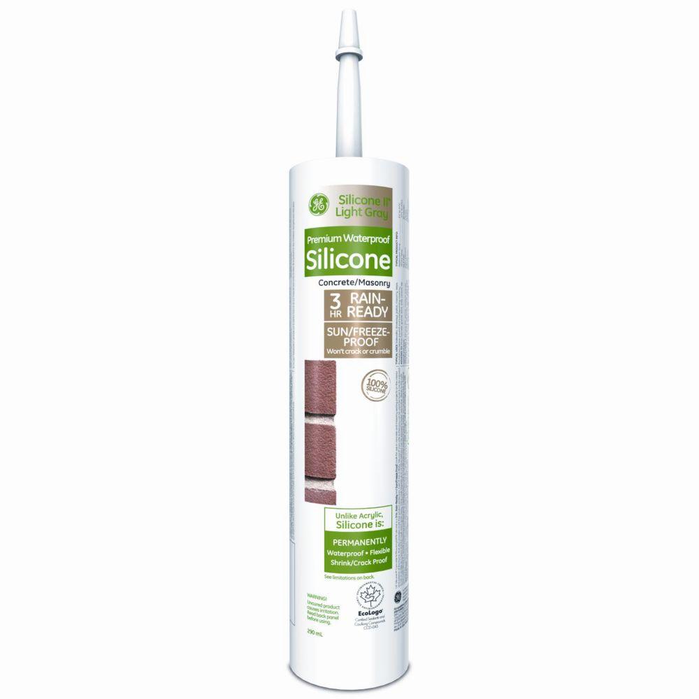 Scellant 100 % silicone pour béton et maçonnerie, 300 ml