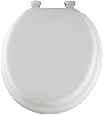 easy home toilet seat. Round Cushioned Vinyl Toilet Seat With Easy Clean  Change Hinge In White Bemis