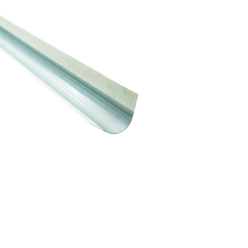 Paper-Faced Metal Outside Corner Bead, Bullnose Offset 3/4 In. radius, 8 Ft.