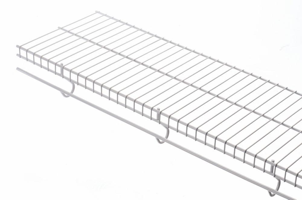 12 Inch X 8ft White Free Slide Shelf