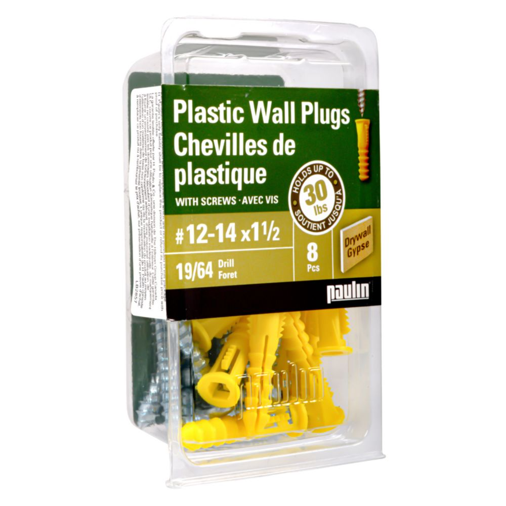 12-14X1 1/2 Plastic Anchors with Screws