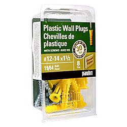 Paulin 12-14X1 1/2 Plastic Anchors with Screws