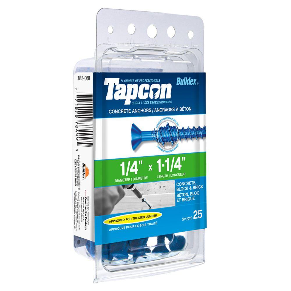 Papc 1/4x1 1/4 P Tapcon Concrete Scr